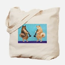 Pomeranian Clarinet Duo Tote Bag