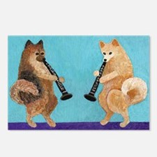 Pomeranian Clarinet Duo Postcards (Package of 8)