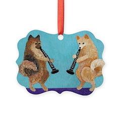 Pomeranian Clarinet Duo Ornament