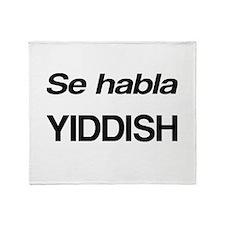 Se Habla Yiddish Throw Blanket