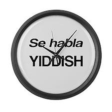 Se Habla Yiddish Large Wall Clock
