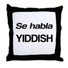 Se Habla Yiddish Throw Pillow