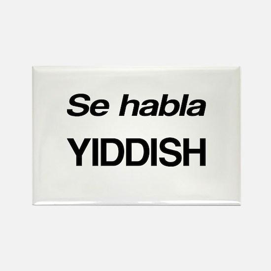 Se Habla Yiddish Rectangle Magnet
