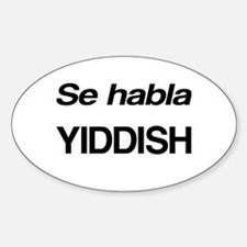 Se Habla Yiddish Decal
