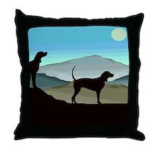 Blue Hills Coonhounds Throw Pillow