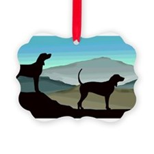 Blue Hills Coonhounds Picture Ornament