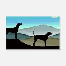 Blue Hills Coonhounds Car Magnet 20 x 12