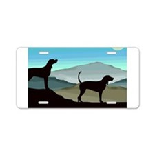 Blue Hills Coonhounds Aluminum License Plate