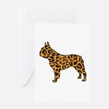 Jaguar Frenchie Greeting Cards (Pk of 10)