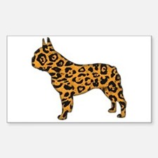 Jaguar Frenchie Rectangle Decal