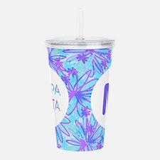 Kappa Delta Tropical M Acrylic Double-wall Tumbler