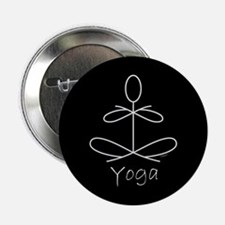 """Yoga Glee in White 2.25"""" Button (10 pack)"""