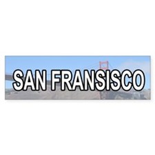 San Fransisco Bumper Car Sticker
