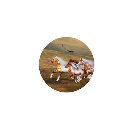 Wild Horses Herd Mini Button