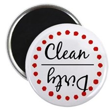 "Dishwasher Magnet_Red 2.25"" Magnet (10 pack)"