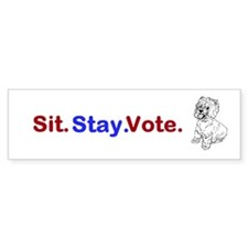 Sit. Stay. Vote. Bumper Sticker (10 pk)