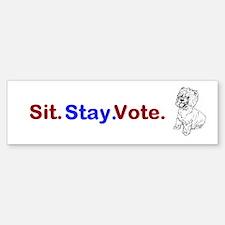 Sit. Stay. Vote. Bumper Sticker (10 pk)