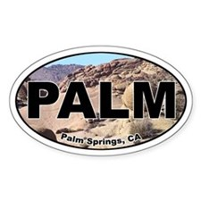 Palm Springs Oval Bumper Stickers