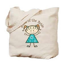 Aunt of the Bride Stick Figure Tote Bag