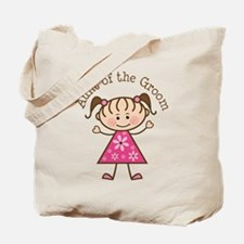 Aunt of the Groom Stick Figure Tote Bag