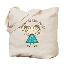 Sister of the Bride Stick Figure Tote Bag