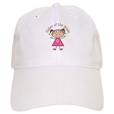 Sister of the Bride Stick Figure Baseball Cap