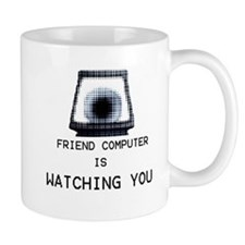 Paranoia RPG Friend Computer is Watching You Small Mug