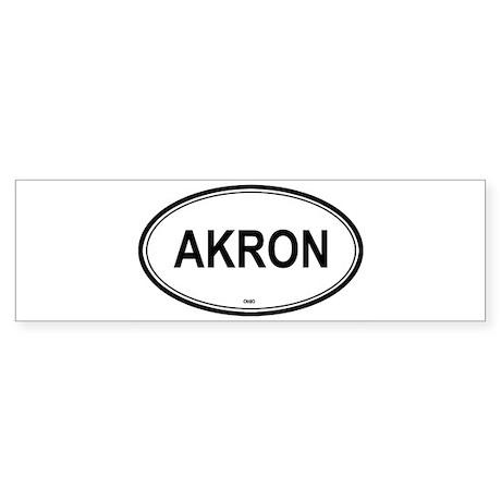 Akron (Ohio) Bumper Sticker