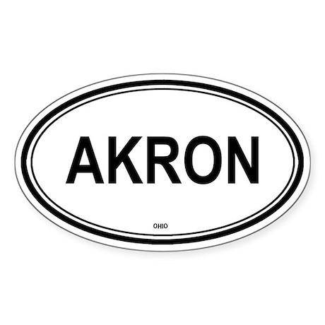 Akron (Ohio) Oval Sticker