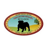 English bulldog Oval Car Magnets