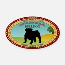 English Bulldog Oval Car Magnet