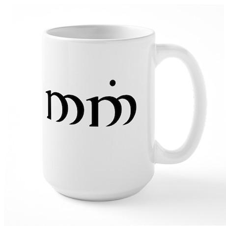 """""""nago nin"""" (bite me) large mug"""