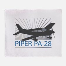 Aircraft Piper PA-28 Throw Blanket