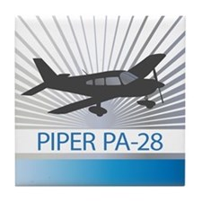 Aircraft Piper PA-28 Tile Coaster