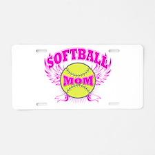 Softball mom Aluminum License Plate
