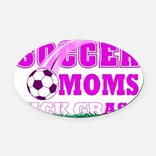 soccer MOM shield.png Oval Car Magnet