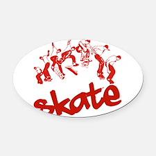skateboarding.png Oval Car Magnet