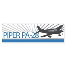 Aircraft Piper PA-28 Bumper Bumper Sticker