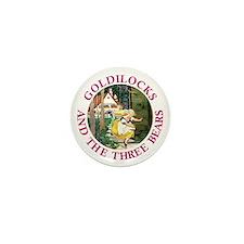 Goldilocks and the Three Bears Mini Button