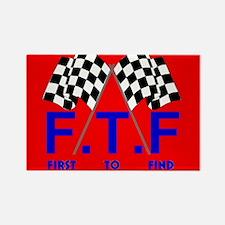 FTF Flag Rectangle Magnet