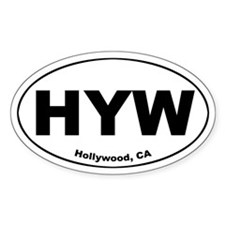 Hollywood Oval Bumper Stickers