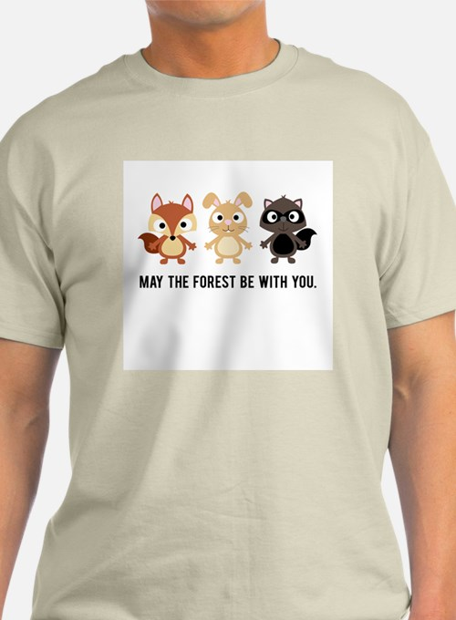 May the Forest Be With You Mens T-Shirt