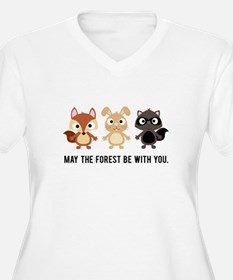 May the Forest Be With You Womens Plus Size Shirt