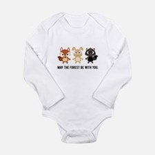 May the Forest Be With You Baby Bodysuit - Onesie Romper Suit