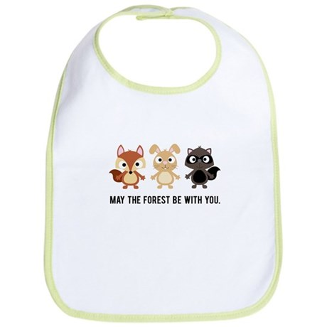 May the Forest Be With You Baby Bib