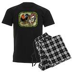 Barnyard Game Fowl Men's Dark Pajamas