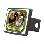 Barnyard Game Fowl Rectangular Hitch Cover