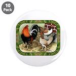 "Barnyard Game Fowl 3.5"" Button (10 pack)"