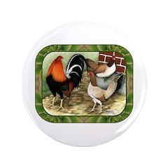 "Barnyard Game Fowl 3.5"" Button"