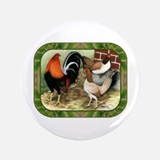 "Barnyard Game Fowl 3.5"" Button"
